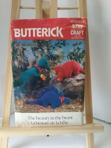 Vintage Butterick Stuffed Dinosaur Pattern