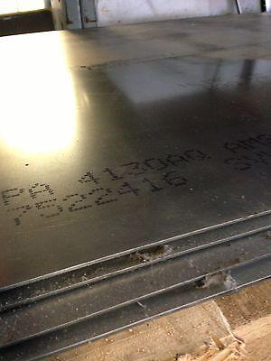 4130 - Ann Chrom Moly Steel Sheet Plate - .100 X 12 X 36