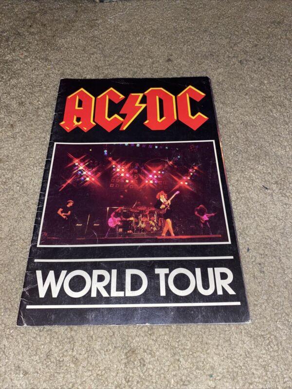 AC/DC HELLS BELLS 1981 WORLD TOUR PROGRAM