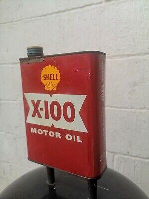 Vintage SHELL X100 2 Litre oil tin