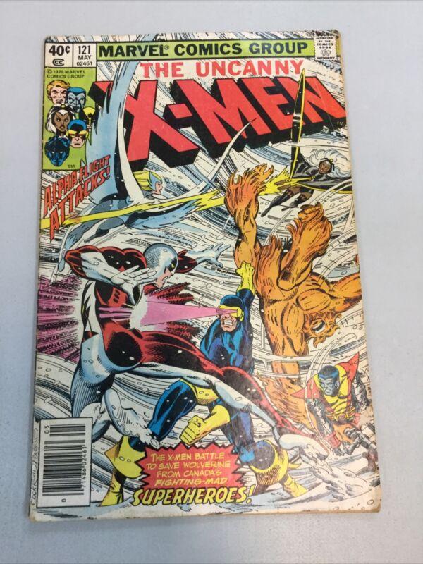 Uncanny X-men 121 Marvel Comics 1979 Bronze Age LOW GRADE 1st App. Alpha Flight