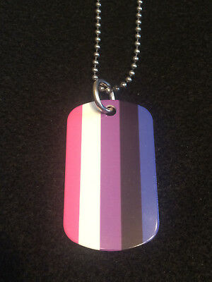 Genderfluid 2-Sided Color Photo Dog Tag Necklace / Keychain FREE & FAST SHIPPING
