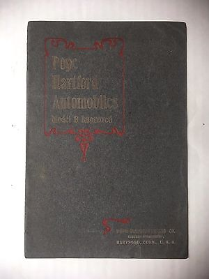 ORIGINAL 1905 POPE HARTFORD AUTOMOBILE MODEL B IMPROVED CATALOG