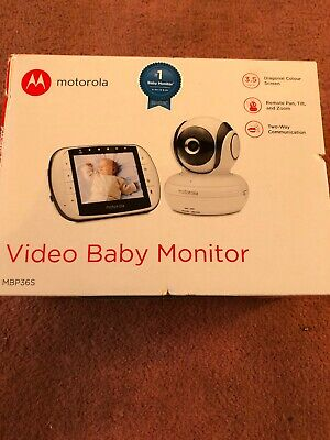 Motorola MBP36S 3.5-Inch Video Baby Monitor BRAND NEW RRP £129.99