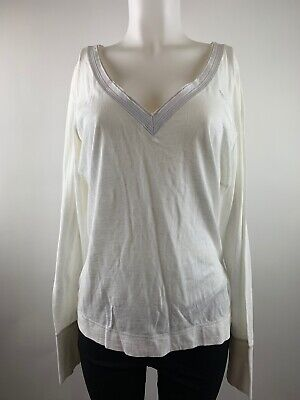 NEW Women's Abercrombie & Fitch A&F V Neck Long Sleeved Top Size Large SZ L