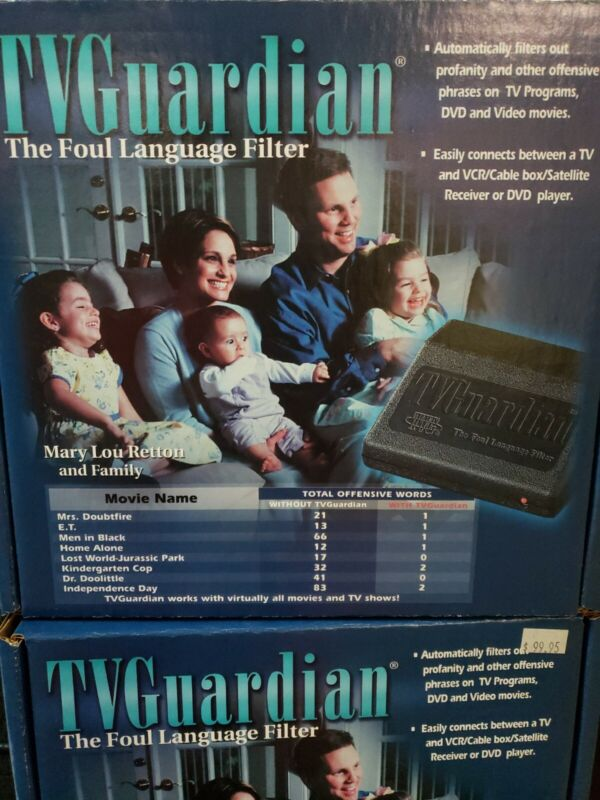 TV GUARDIAN THE FOUL LANGUAGE FILTER NEW IN BOX