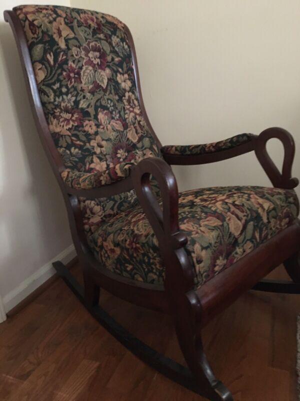 Antique Gooseneck Rocking Chair