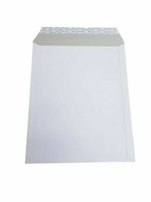 100 - 6x8 6x8 Stay Flat Rigid Mailer Cardboard White Envelope Photo 350gsm