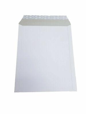 100 - 6x8 6x8 Stay Flat Rigid Mailer Cardboard White Envelope Photo 350gsm