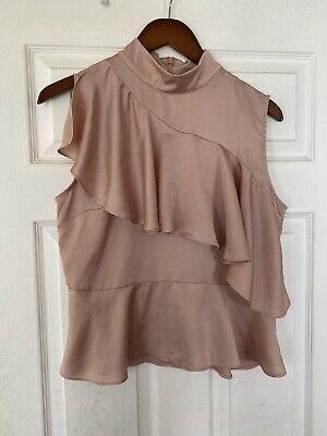 Zara Pink Layered Sleeveless Blouse Size M