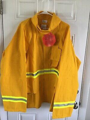 Firefighter Wildlandbrush Jacket With Reflective Stripes Size 3xl Barrier Wear