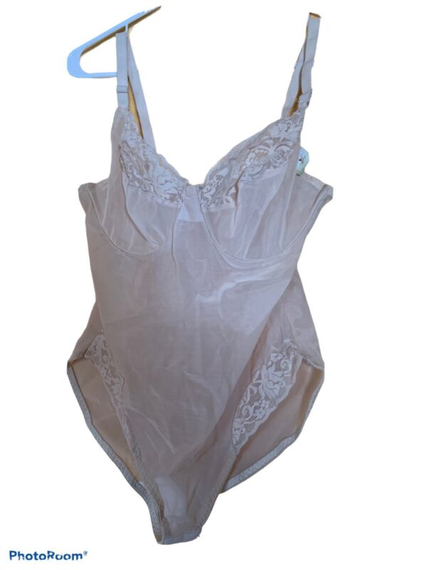 NWT Avon Fashions Berlei Sheer Nylon Lace Teddy Romper Bodysuit USA 40C VINTAGE