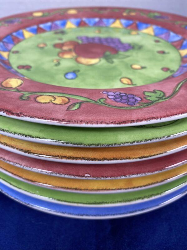 Lot of 7 SANGO SANGRIA by Sue Zipkin SALAD PLATES