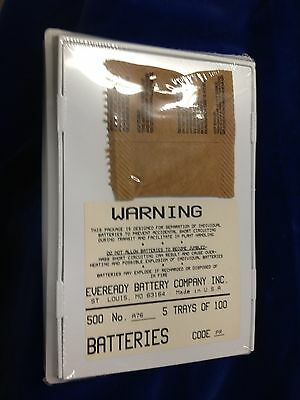 everready a76 batteries factory sealed 5 packs