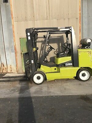 2013 Clark Cgc70l 15500lb Propane Cushion Tire Forklift. 359 Hours