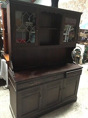 Modern Reproduction Vintage Kitchen Welsh Dresser Cupboard Drawers   13/8/W