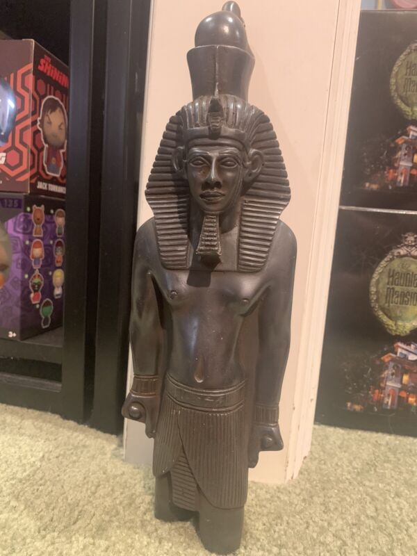 "Big 12"" Resin SandStone egyptian Pharoah Statue EGYPT 3 Pounds!  100% Authentic!"