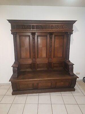 Antike Kirchenbank / Sitzbank/ Sitzmöbel ()