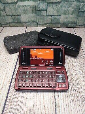 LG EnV3 Verizon Phone Qwerty Slide-out Keyboard VX9200M BURGUNDY 2MP Camera 3G