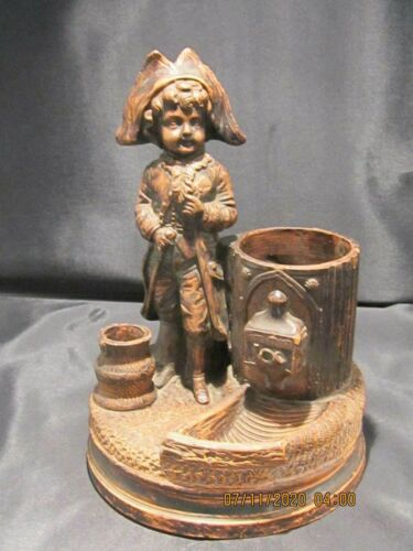 RARE 19TH CENTURY  ANTIQUE TERRACOTTA SMOKERS COMPANION SET FROM GERMANY AUSTRIA