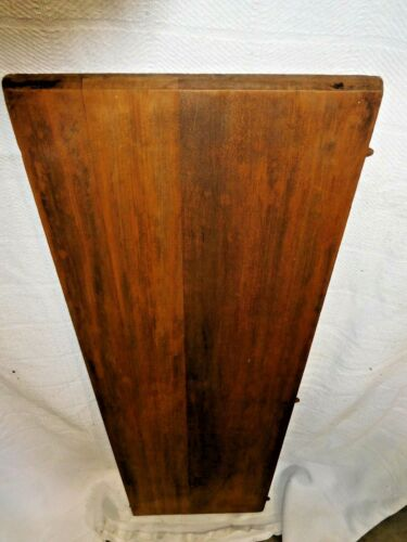"""Antique~Salvage~Table Leaf~Stained Mahogany Round Edge 37 3/4"""" long        #2027"""