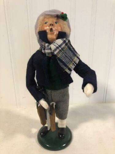 Sweet BYERS CHOICE 1994 The Carolers Figurine Man Boy ICE SKATES