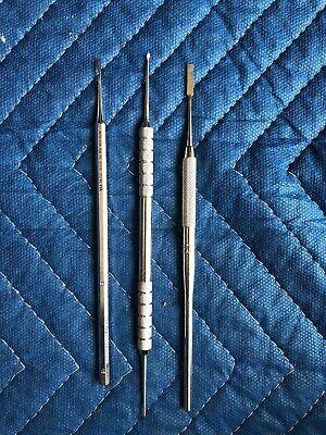 Lot Of 3 Used Dental Tools- Various Models Hu-friedy American Dental Brasseler