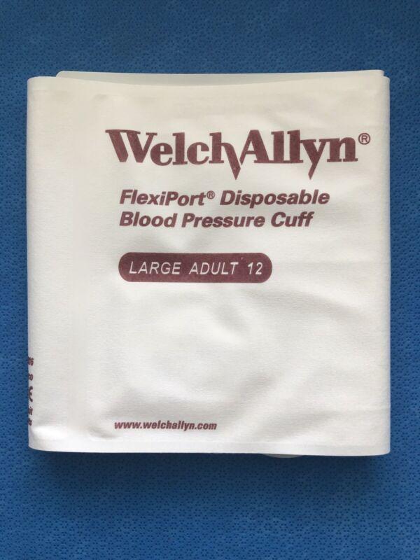 Welch Allyn Blood Pressure Cuff ADULT LG Soft 2-Tube #SOFT-12-2MQ Genuine Sealed