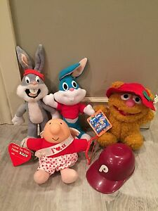 Retro Stuffed Toys Bugs bunny, Fozie Bear & Ziggy