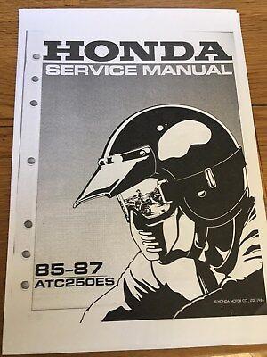 HONDA ATC 250 ES Workshop Service Manual 1985 - 1987 Paper bound copy