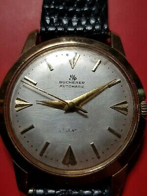 Vintage Antique Bucherer Automatic Gents Watch