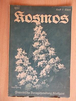 Kosmos.Handweiser für Naturfreunde 1931/3 Milzbrandbazillus/Fischwanderung