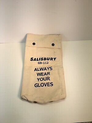 Salisbury Gloves Gb112 Gb-112 Salisbury Canvas Glove Bag New