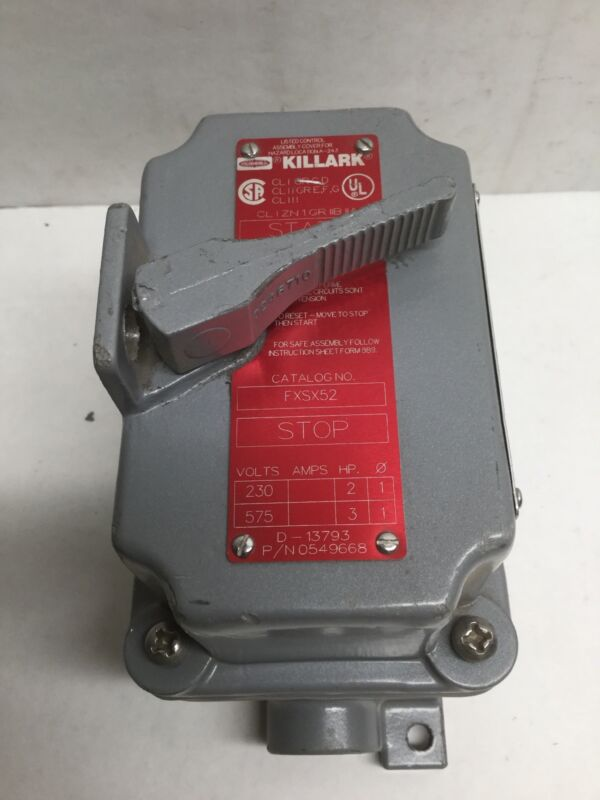 Killark FXSX52 Manual Motor Starter Hazardous Location