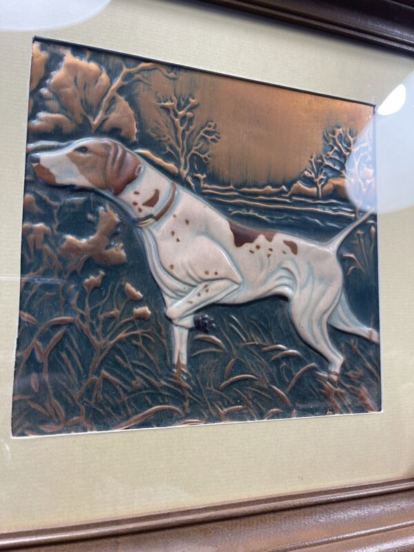 Vintage Hunting Dogs Copper Art (from Cop-R-Art in California) Numbered 464, 465