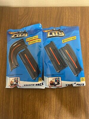 NEW Hot Wheels City Intersection & Straight Track Pack Sealed Unopened Set of 2