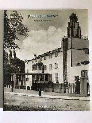 Lovely hardback book Josef Hoffmann Bauten & Interieurs in German - Design