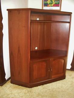 Jarrah TV Unit with Side Tall Boy