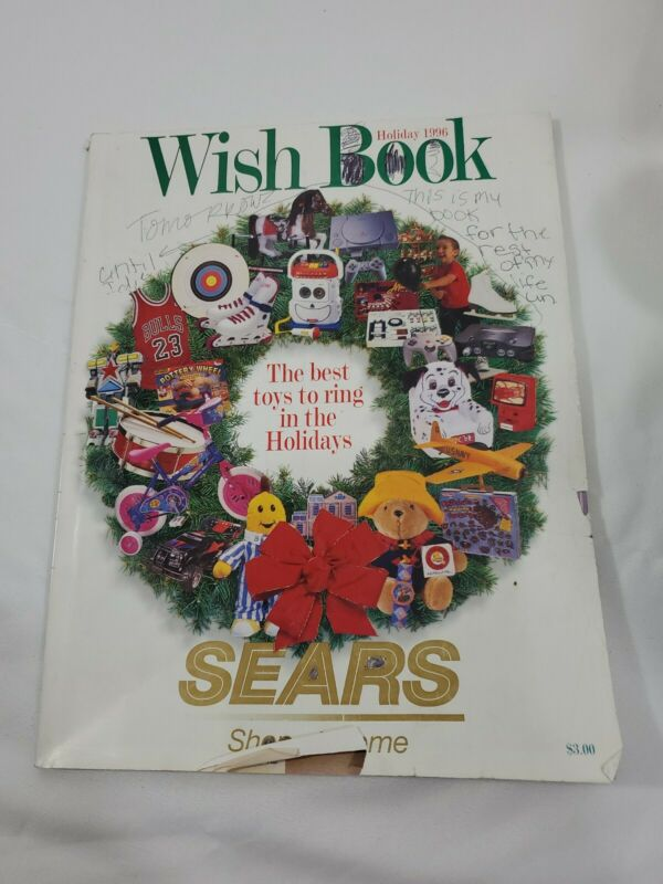 Vintage 1996 Sears Wish Book Holiday 200 Pages Pooh Paddington Barbie Nintendo