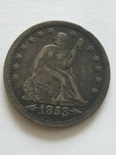 1853-O Liberty Seated Quarter * Arrows & Rays * One Year Type *