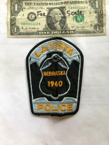 Rare La Vista Nebraska Police Patch pre-sewn in good shape