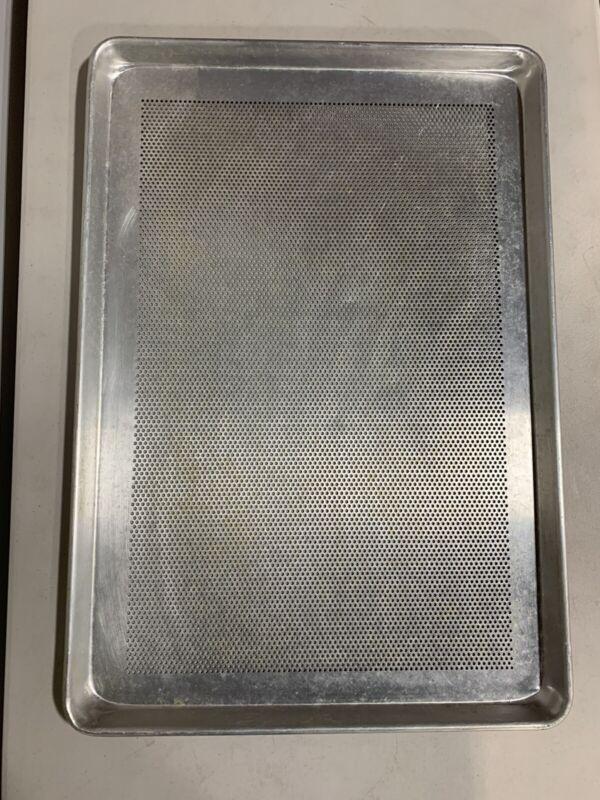"Full Size Baking Sheet Perforated Aluminum Cookie Pan 18"" x 26"""