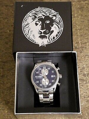 New Versus Versace Mens Watch Blue Dial Stainless Steel 43mm Quartz VSP661518