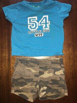 Baby Boys 3 Months Carters Shorts Kidgets Shirt