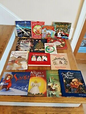 Children's Christmas Book Lot of 15 mixed hardcover and paperbacks ()