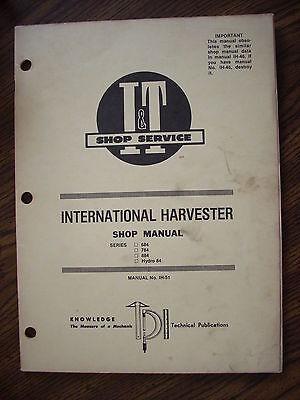 Ih Farmall International Mccormick 684 784 884 Hydro 84 Service Manual
