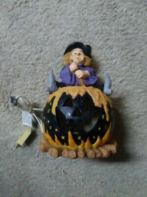 Unique Halloween Witch Black Pumpkin Cauldron Lamp Light decoration