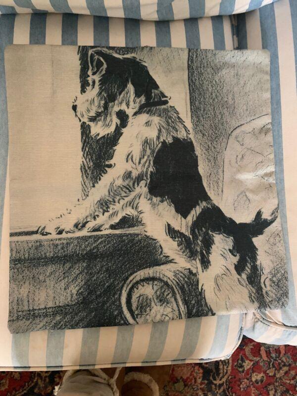 Wire Fox Terrier Pillow Cover 17x 17 Zipper New