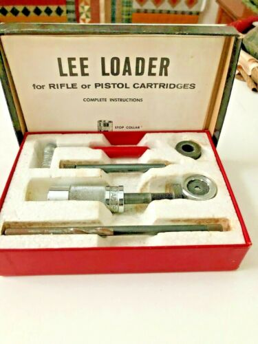 VINTAGE LEE LOADER for Rifle or Pistol Cartridges by Hand with Instructions Book
