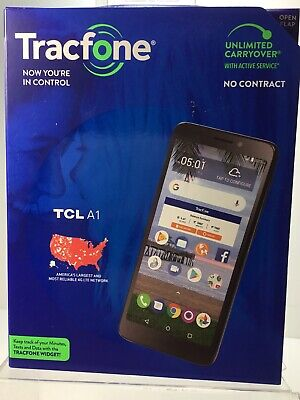 Tracfone TCL A1 4G LTE Prepaid Cell Phone. Brand New Factory Sealed.